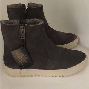New Frye Leather High Top Sneakers